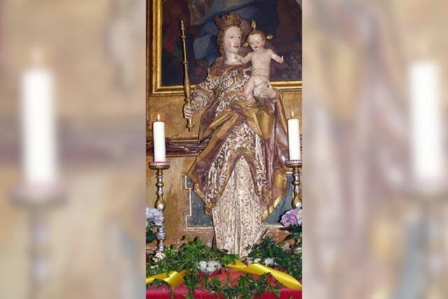 Maria strahlt in neuem Glanz