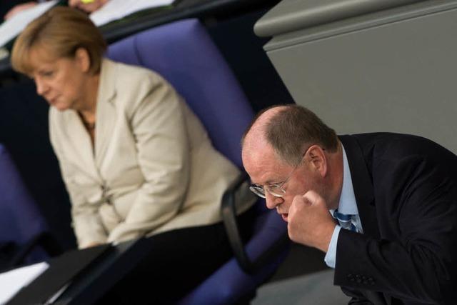 Steinbrück und Merkel im Wahlkampfmodus