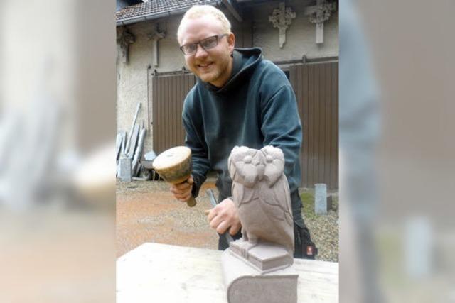 Ausbildungsberuf Steinbildhauer: Emanuel Kleint verbindet Kunst und Handwerk