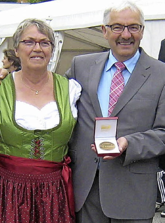 Am vergangenen Wochenende waren etlich...er auch eine Medaille überreicht bekam  | Foto: PRIVAT
