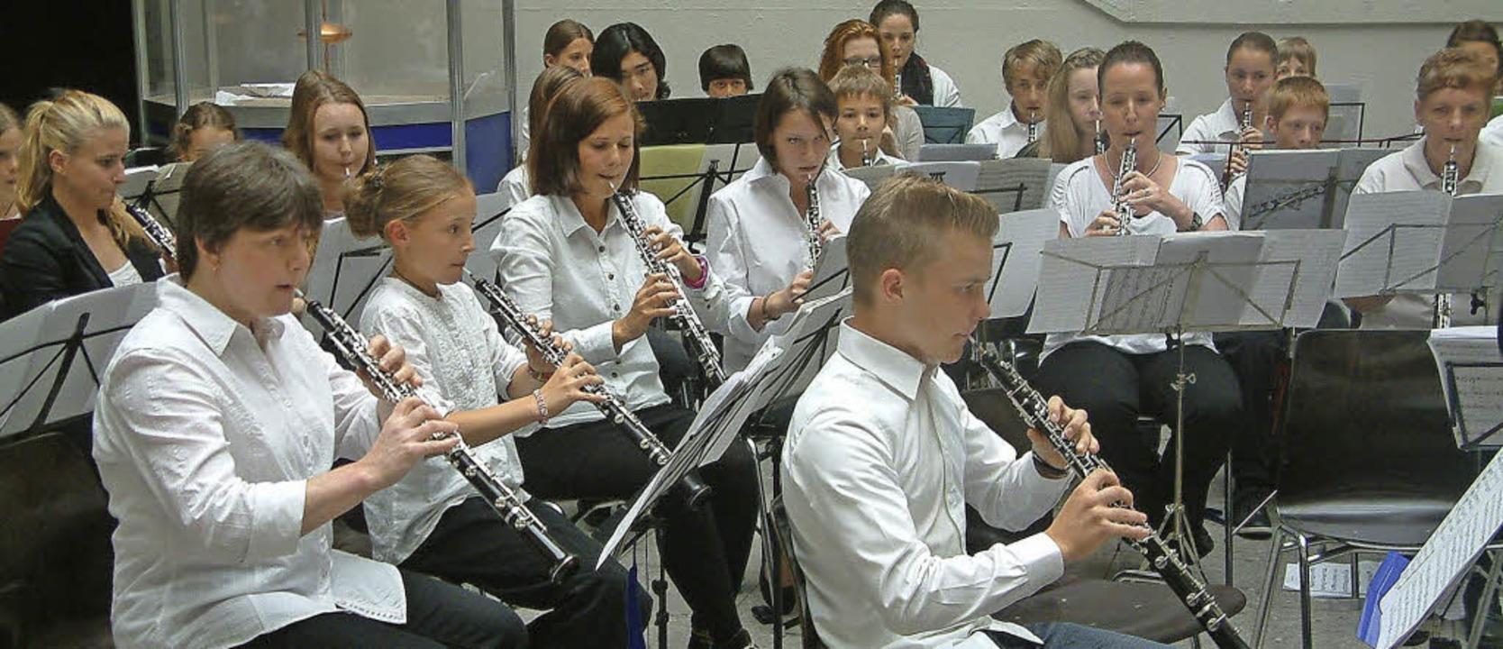 Außergewöhnliche Klänge im Lichthof: D...erstmaligen Oboentage der Musikschule.  | Foto: Roswitha Frey