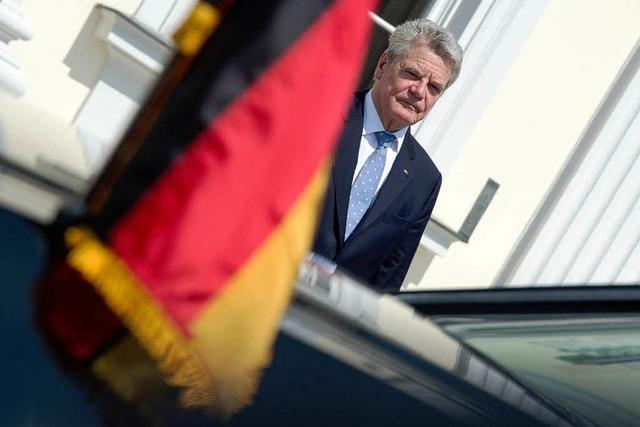 Bundespräsident Gauck live erleben am Münsterplatz