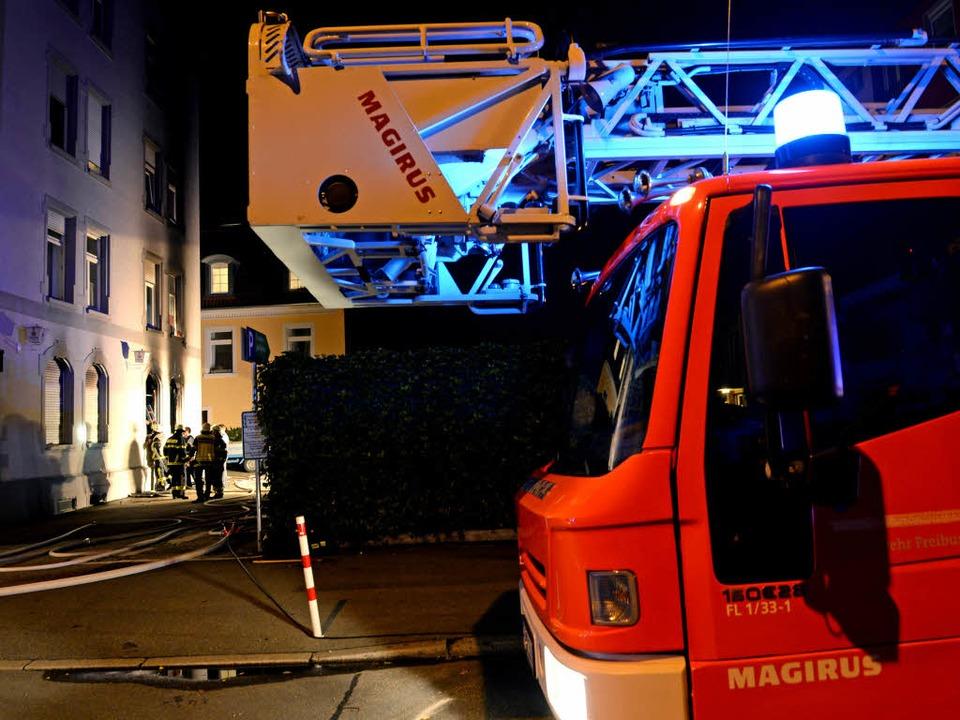 Großeinsatz in Freiburg-Herdern  | Foto: dpa
