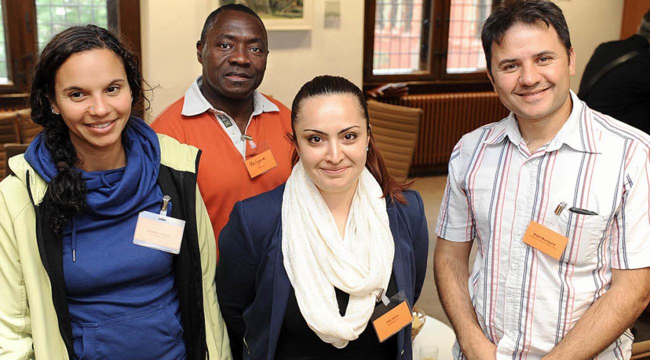 Isabelle Ihring, Philip Djahi, Filiz S...fanden den Abend im Ratssaal wichtig.   | Foto: rita eggstein