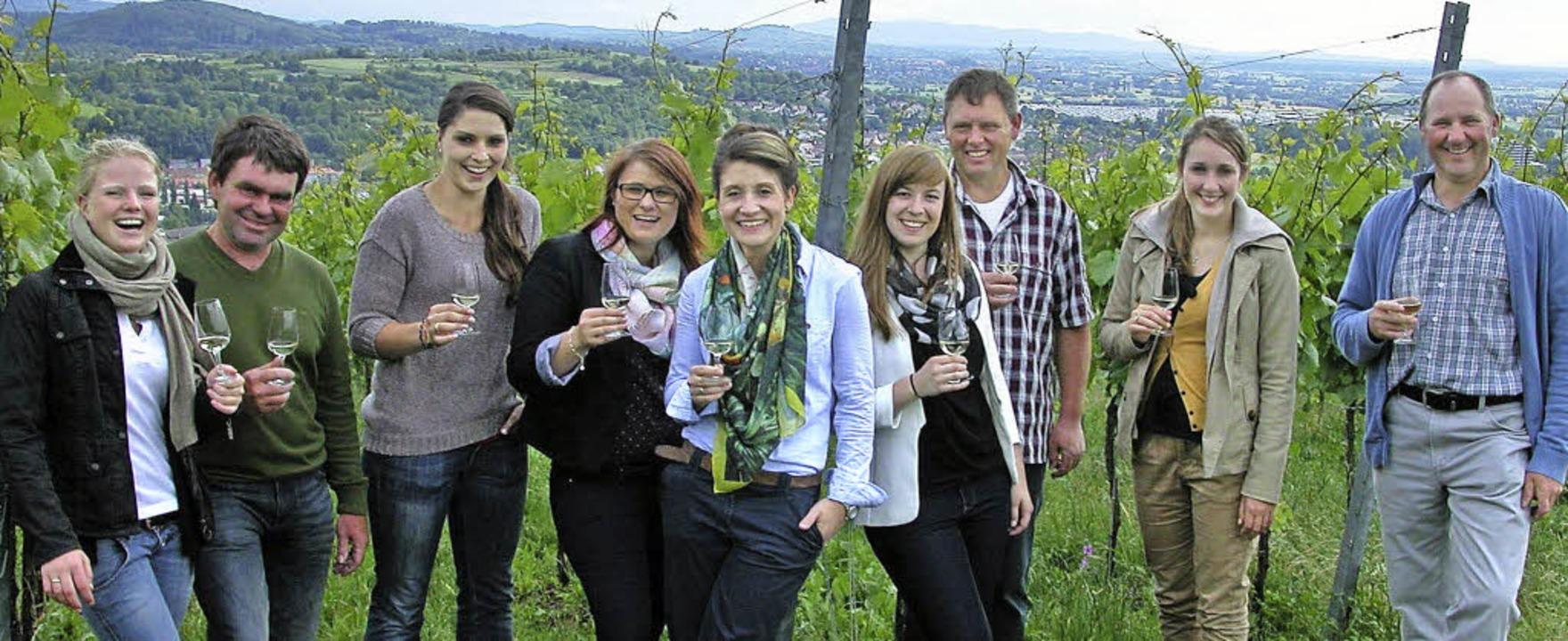 Weinkenner auf dem Schutterlindenberg ...Daniela Sättele,  und Frank Jenne       | Foto: Alfred Arbandt