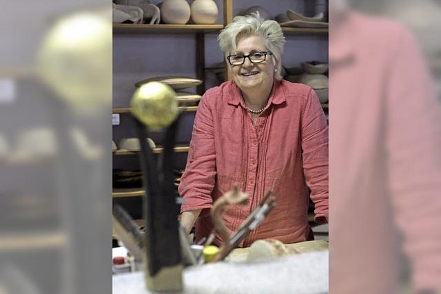 Silvia Wenzinger-Schille organisiert die Künstlertage in ihrem Heimatort