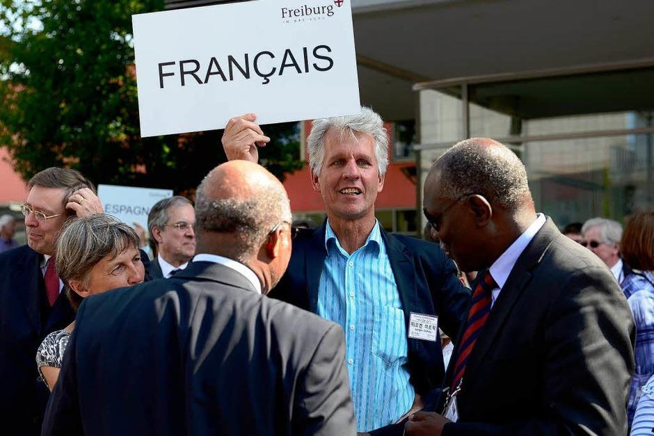 Die Führung wurde in verschiedenen Sprachen angeboten (Foto: Ingo Schneider)