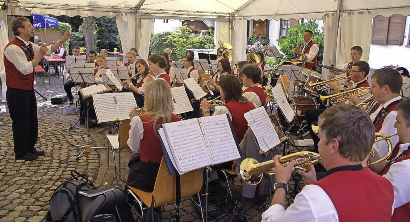 Der Musikverein Schweighausen bildete ...ommerhocks des Musikvereins Wagenstadt  | Foto: Jörg Schimanski