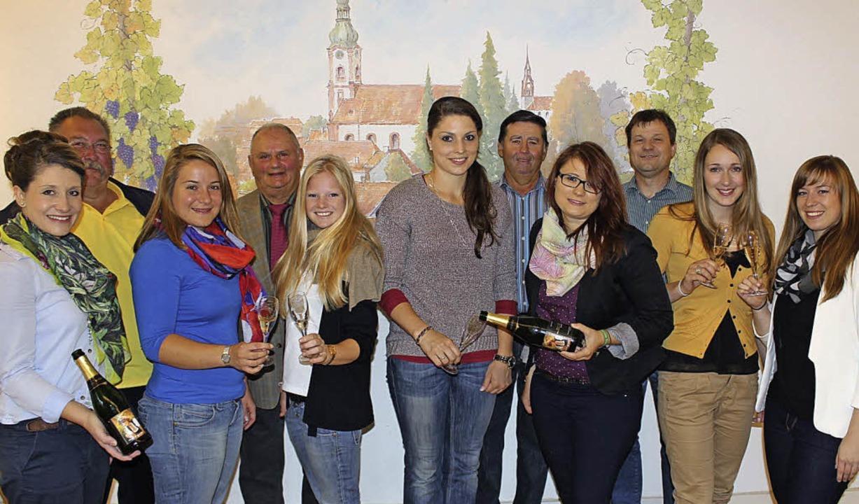 Weinhoheiten in Herbolzheim, von links...,  Daniela Sättele und Stefanie König.  | Foto: Privat