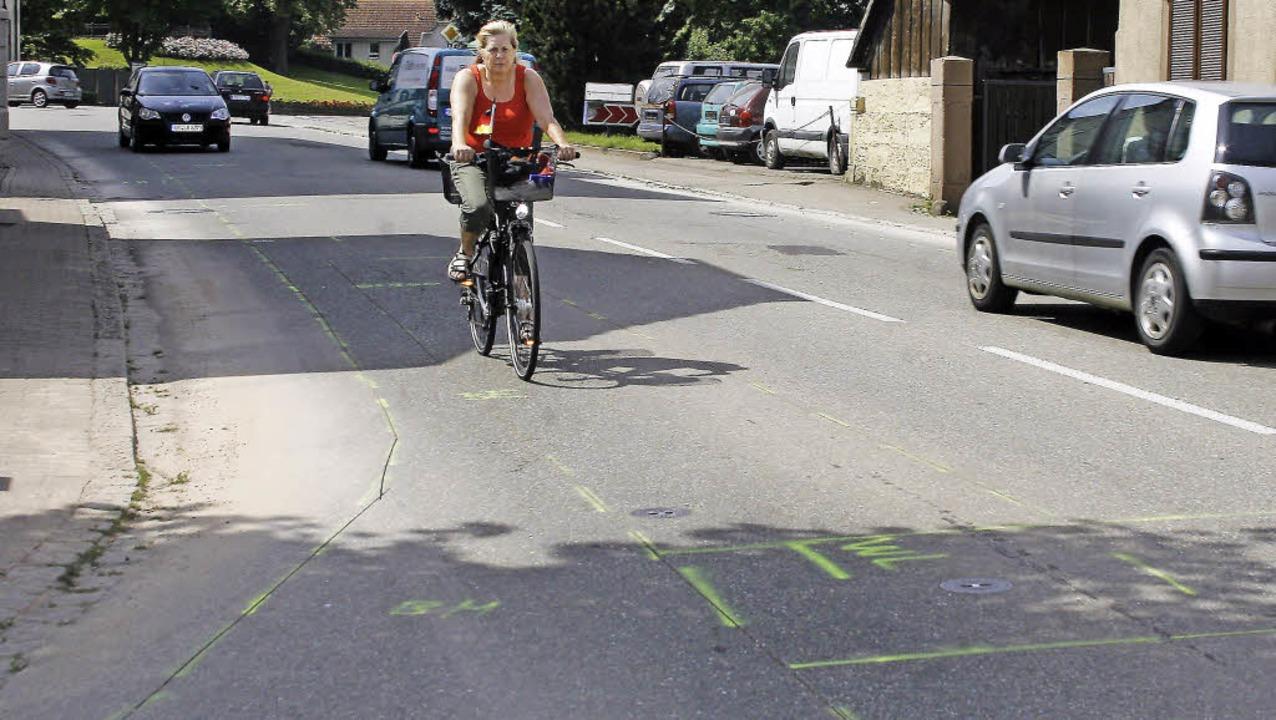 Die Markierungen gibt es schon, der Au...dt Mahlberg ihr Veto eingelegt hatte.     Foto: Heidi Fössel