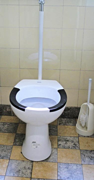 Sowohl auf der Buben- als auch auf der...toilette gibt es in keine Klobrillen.   | Foto: Christian John