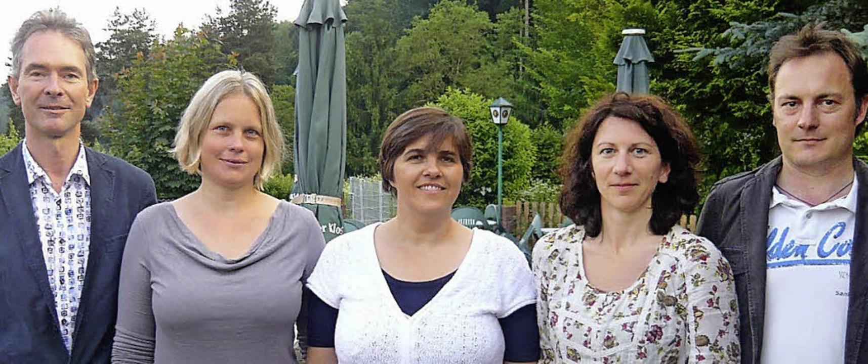Der ausgeschiedene Vorsitzende Martin ... Beilharz, Birgit und Stefan Gorenflo   | Foto: klaus brust
