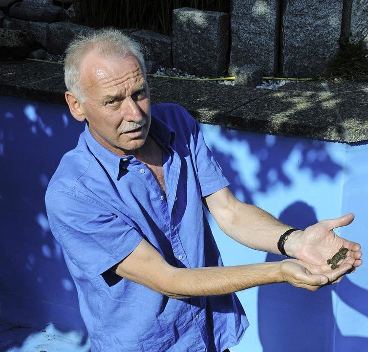 Erich Hildebrandt hat in  seinem Schwi...zum  umstrittenen Baugebiet Hofäcker.     Foto: Robert bergmann