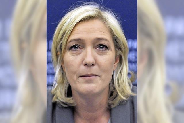 Marine Le Pen gefällt sich in der Rolle der Märtyrerin