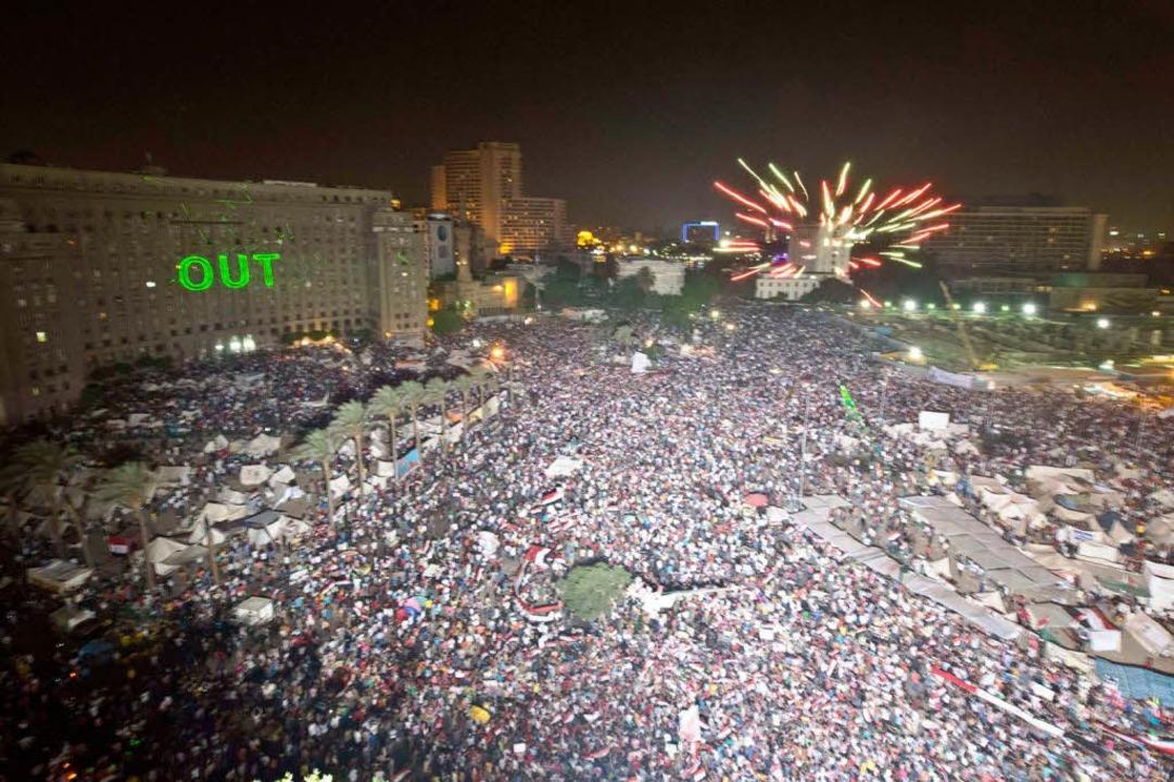 Der Protest gegen Ägyptens Präsident Mursi hält an.  | Foto: AFP