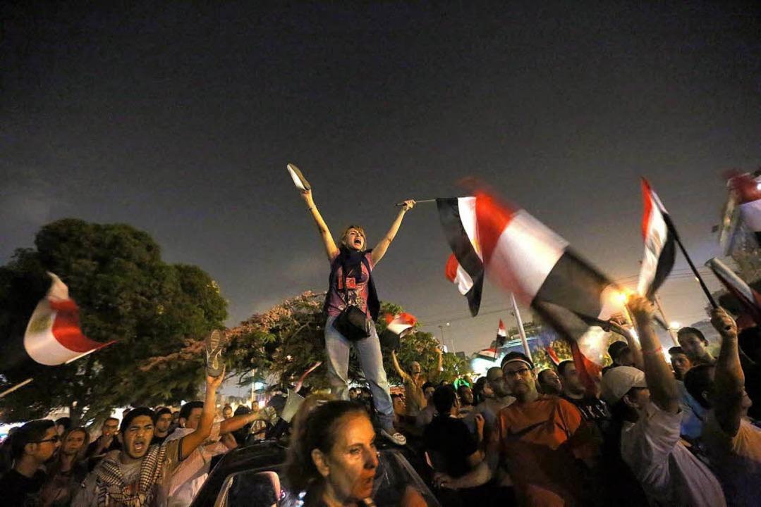 Der Protest gegen Ägyptens Präsident Mursi hält an.  | Foto: dpa