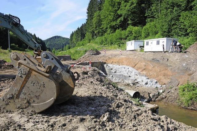 Baustopp am Klosterbach
