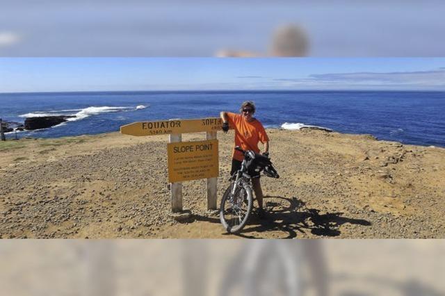 Weltumradlerin Dorothee Fleck ist mittlerweile in Neuseeland angekommen