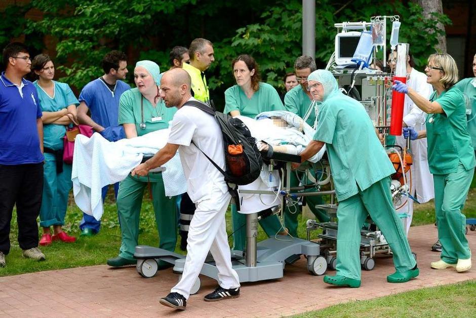 Leere Bombendrohung – immense Folgen: 200 Patienten des Diakoniekrankenhauses Freiburg sind evakuiert worden. (Foto: Ingo Schneider)