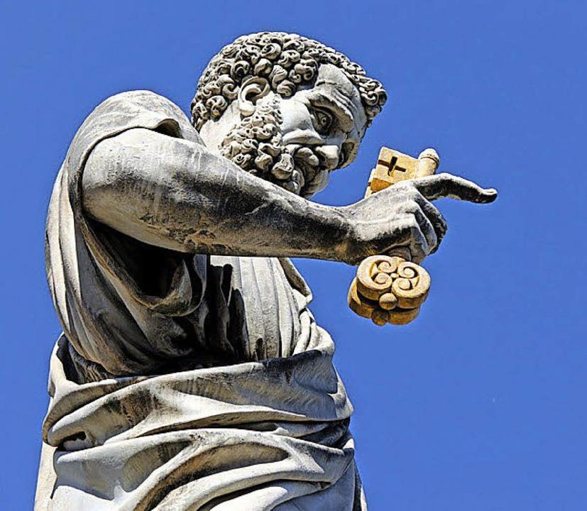 Wo geht's lang in Rom? Der Petrus weiß es: Immer geradeaus!     Foto: petair (Fotolia.com)