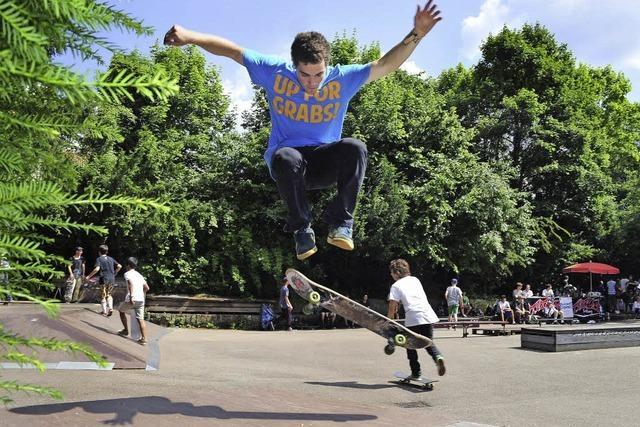 Skater kommen voll in Fahrt