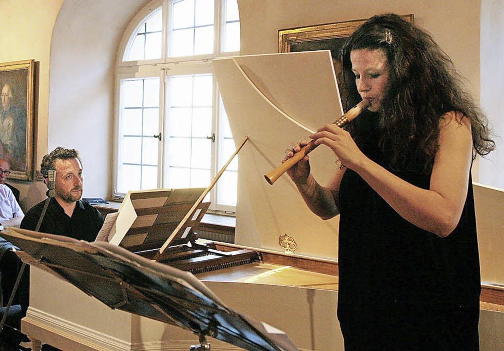 Dorothee Oberlinger an der Flöte, Giampietro Rosato am Cembalo  | Foto: Sandra Decoux-Kone