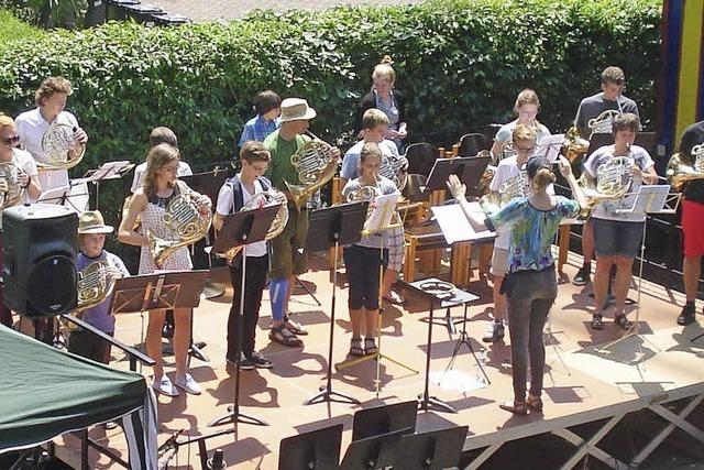 Musikschüler spielen ganz groß auf