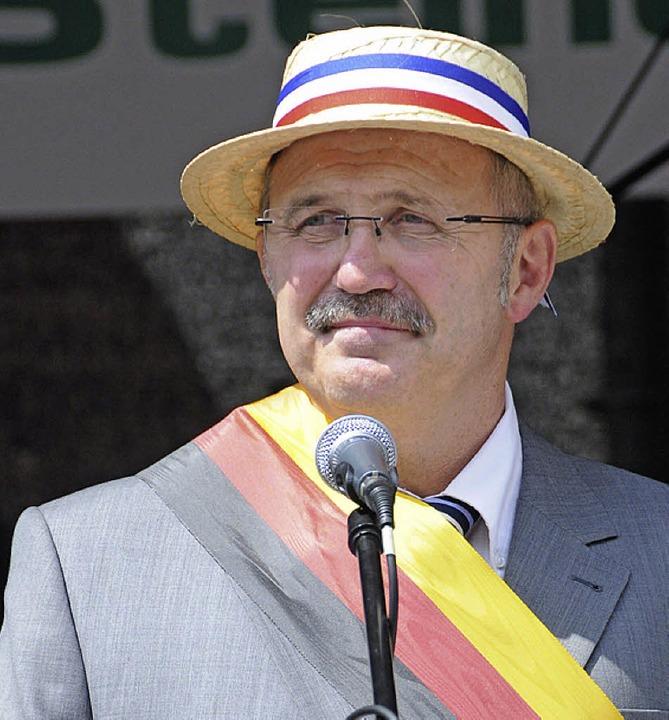 Burgi König im Glück: Das sonnige Fest...Schwung für die Gemeinde-Partnerschaft  | Foto: Robert Bergmann