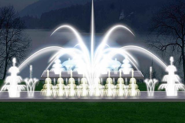 Wasser- und Lasershow am Titisee: Probelauf im September
