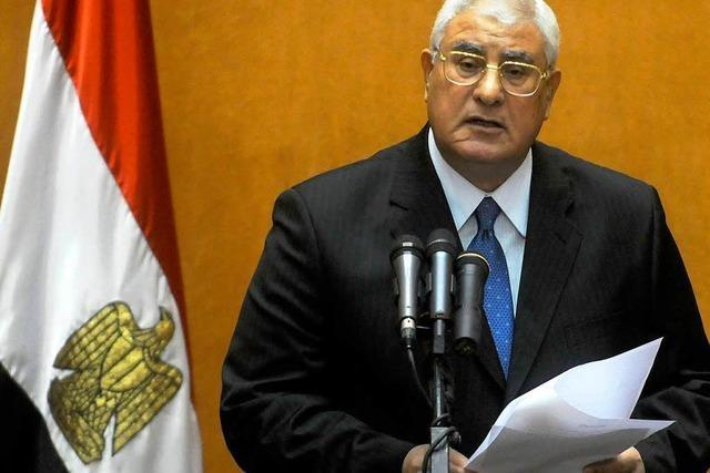 Ägyptens Interimspräsident setzt Neuwahlen an
