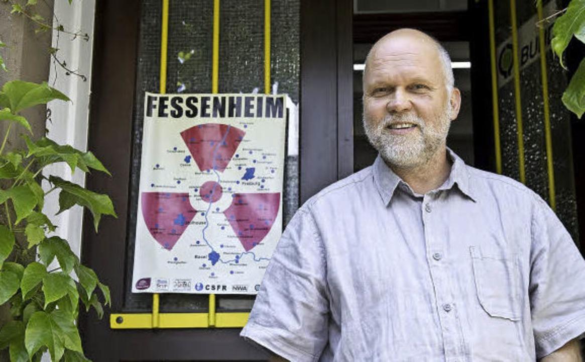 Kein Zweifel: Axel Mayer – hier ...ftsstelle – ist Atomkraftgegner.  | Foto: Daniel Schoenen/BZ