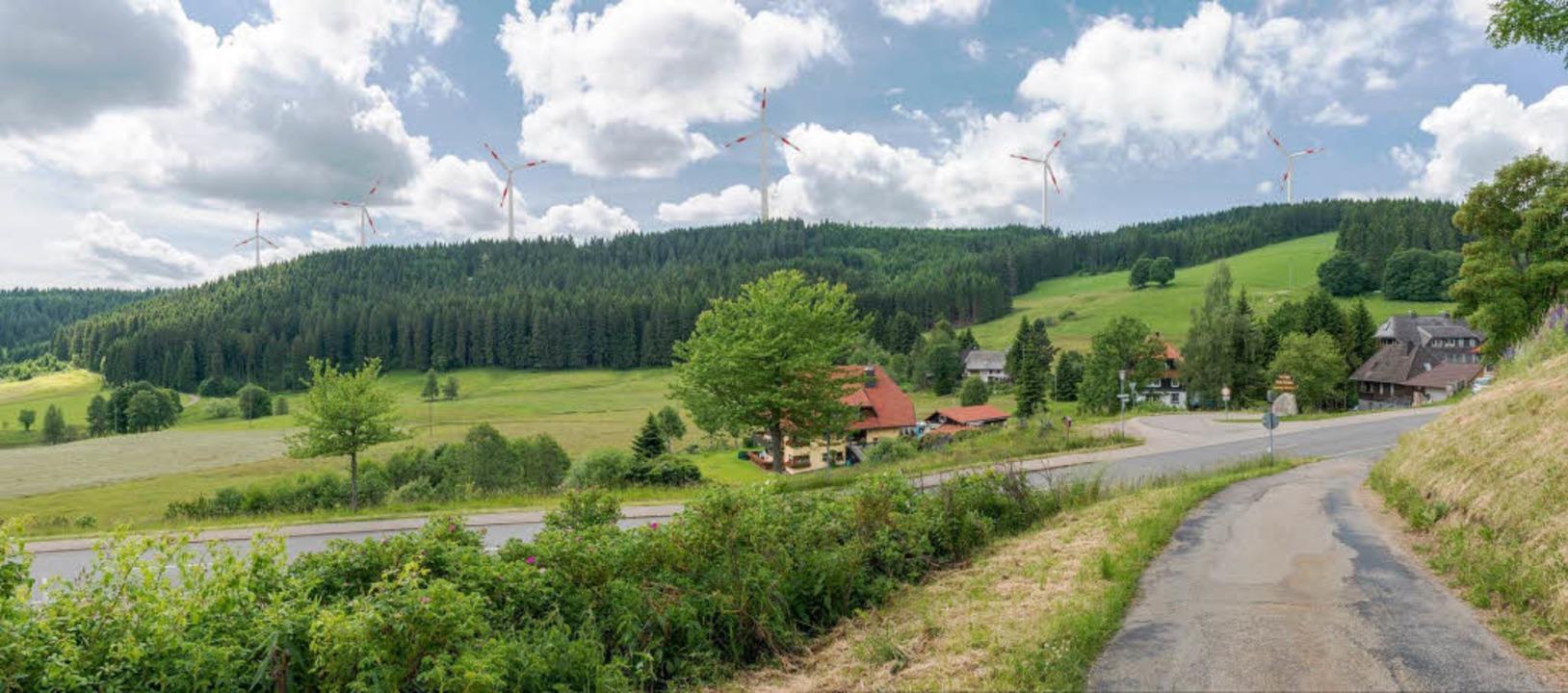 Von Fischbach aus könnten  einmal sechs Windkraftanlagen zu sehen sein.  | Foto: Michael Glaser
