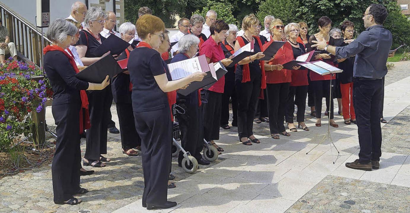 Das Ambiente des Schliengener Schlossp... seinige zum gelungenen Chorfest bei.   | Foto: silke hartenstein