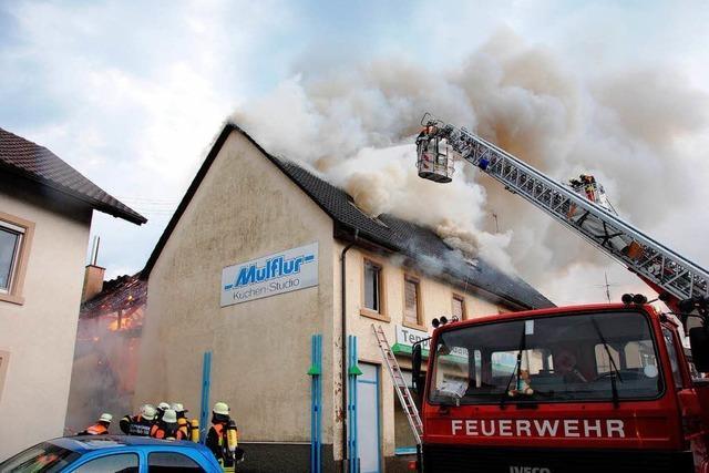 Feuer in Wehrer Innenstadt – Ursache wohl Blitzschlag