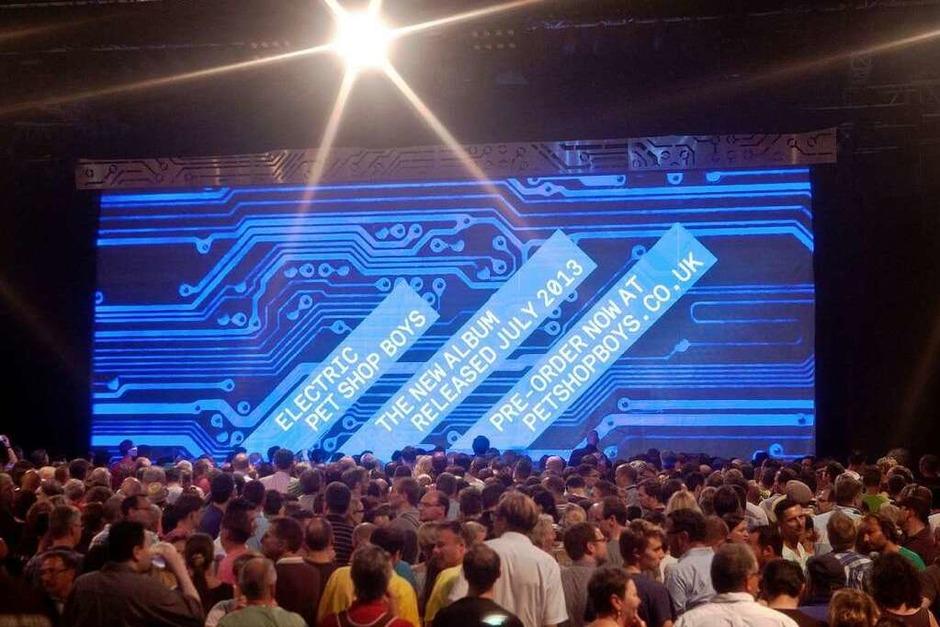 Die Pet Shop Boys beim ZMF (Foto: Janos Ruf)