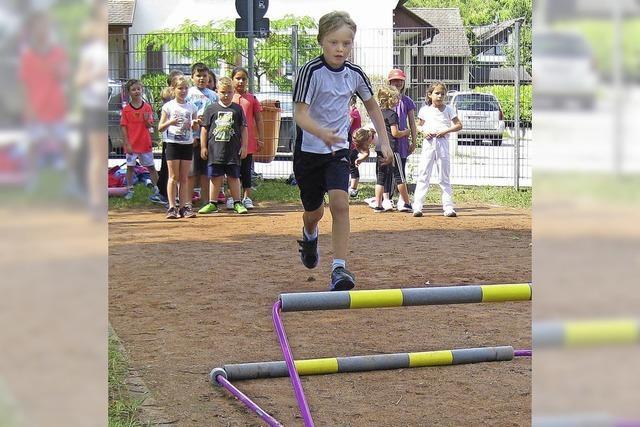 Fitnesstest beim Schulsportfest
