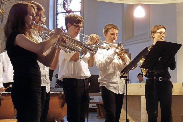 Blechbläser spielten Werke von Bach