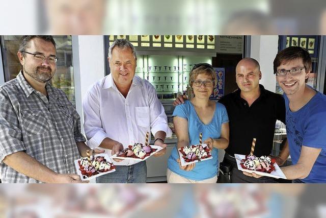 BZ-Eisbecher in Lahr: Genuss mit Gewinnchance