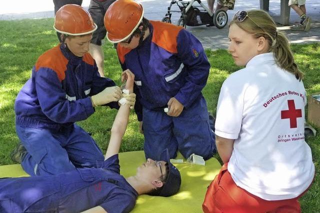 Treffen der Feuerwehrjugend in Ihringen