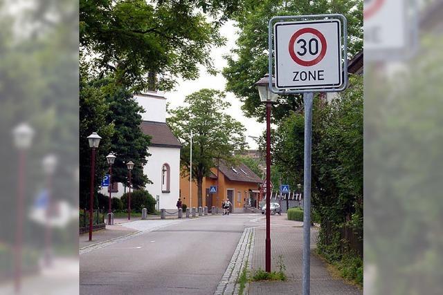 Tempo 30 fürs ganze Dorf