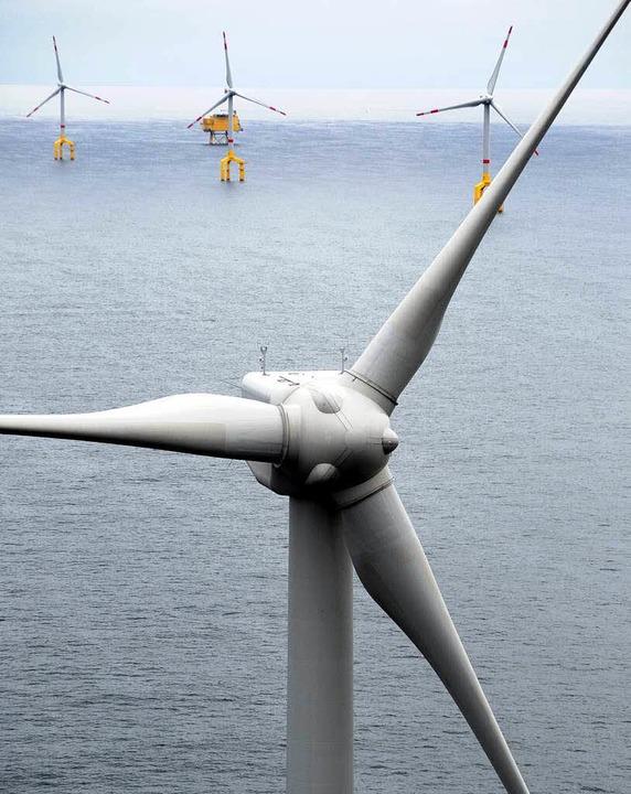 Windpark in der Nordsee  | Foto: dpa Deutsche Presse-Agentur