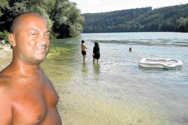 Rheinufer am Lauffen zieht FKK-Fans an