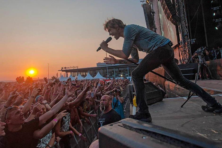 So muss ein Open-Air-Konzert sein: perfektes Wetter, feierwütige Fans und die Toten Hosen. (Foto: Forsbach Florian)