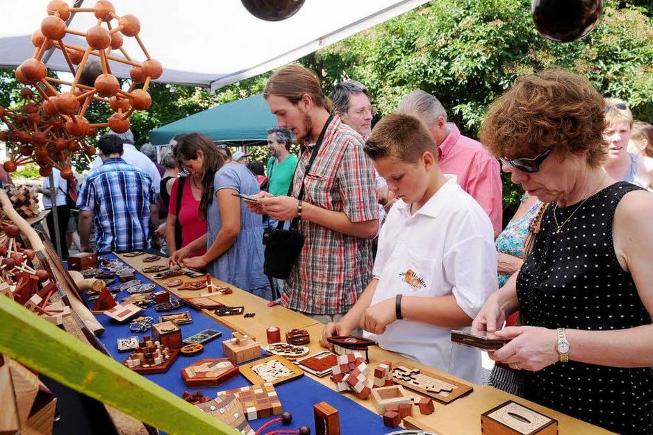 Breites Spektrum an Kunsthandwerk, Kunst und Kulinarik (Foto: WOLFGANG KUENSTLE               )