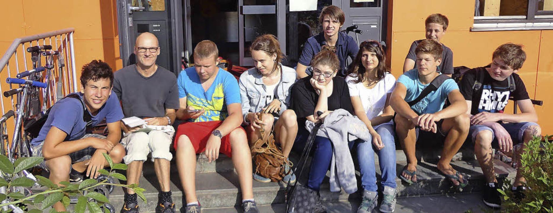 Hauptschul-Abschlussprüfungen an der F...ks) unmittelbar vor der Klassenfahrt.   | Foto: Isam Tahhan