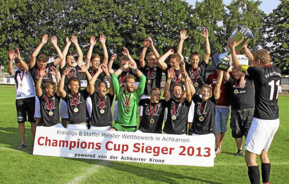 Die Mannschaft aus Gottenheim gewann d... Cup  der Kreisklasse B in Achkarren.   | Foto: herbert trogus