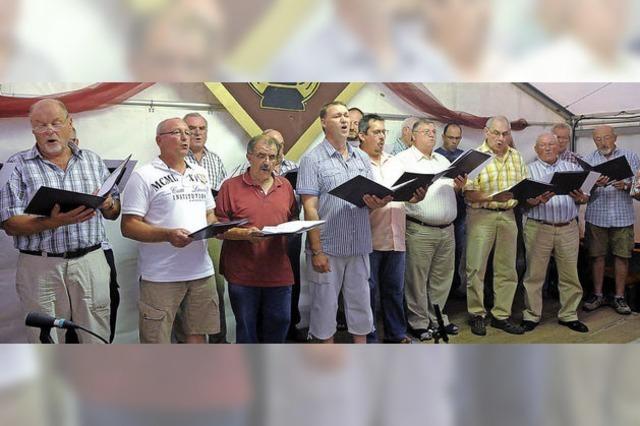Alle Chöre präsentieren sich beim Sommerfest