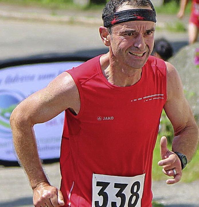 Gewann die Kraftmeile der Männer 50: Andre Schwald vom Lauftreff TSG Schopfheim.  | Foto: Hans-Jürgen Hege