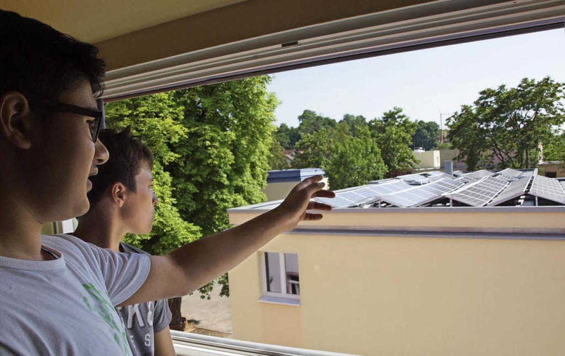 Energiekonzept fürs Jugendhilfezentrum...age auf dem gegenüber liegenden Dach.   | Foto: Michael Haberer