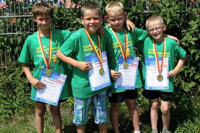 F-Jugend des Turnverein Lenzkirch gewinnt beim Landesturnfest